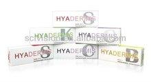 HYADERMIS Hot sell cross-linked Hyaluronic Acid Gel Fillers Injections For Face Wrinkles