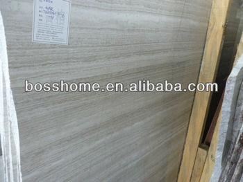 Polishiing white marble wood grain floor tiles