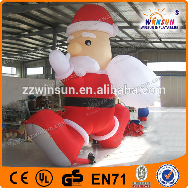 Lovely inflatable chirstmas santa claus