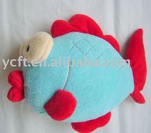 07062 fish shaped stuffed plush decorative pillow