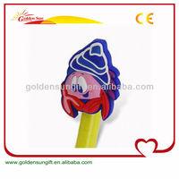 Fashionable Rubber PVC Plastic Pen Caps