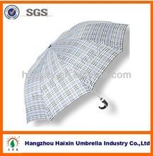 Zhejiang Supplier Check Pattern 2 Folding Umbrella for Rain