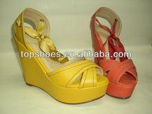 2014 platform shoes Hemp rope wedges sandals