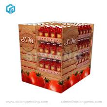 Square Tomato Sauce Pallet Cardboard Display