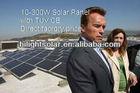Mono and poly 200 watt solar panel with TUV CE ISQ