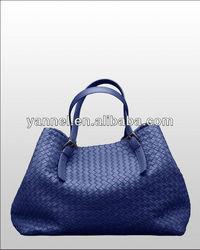 2015 fashion woven lady bags_woven lady purse_desginer handbag