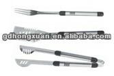 BBQ-18L-01 Aluminium handle stainless steel BBQ tool