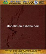 Fine grain structure Red sandstone buff sandstone