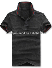 OEM Short sleeve dirty antique stone washed polo shirt for men