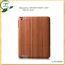 2013 Fashion OEM solid wooden back case/ Smart cover for ipad2 in wooden material!