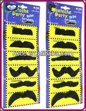 China Wholesale Carnival Halloween Christmas Party Supplies 6pcs/set Self Adhesive Artificial Party Mustache Men Fake Beard