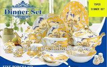 music porcelain ceramic crockery dinner set tableware 75pcs with full decal