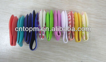 Soft colorful PVC decorative magnetic paper clip tools for bookmark