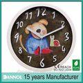 10 polegadas animaisdeplástico marcação de imagem dos desenhos animados relógiosdeparede