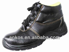 2014 New Safety shoes steel toe cap covering breathable male genuine leather safety shoes protective shoes polyester