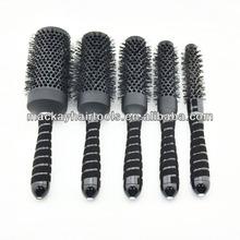 Ceramic hair brush manufacturing Ionic nylon hard bristle hair brush