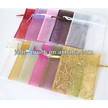 drawstring organza bag/organza gift bag/organza pouch wholesale