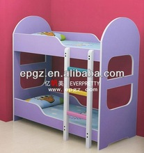 2014 Cheap Purple Wooden Kids Car Bed Truck Bed with Stairs for Kids Bedroom Furniture