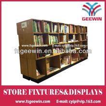MDF library shelf wood laminated book shelf