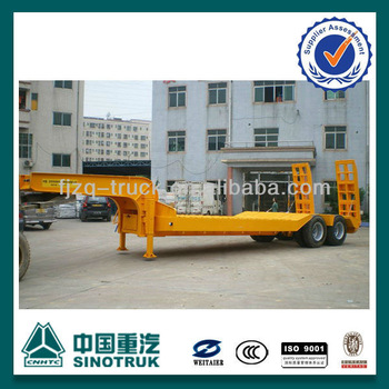 2 Axle 30 Ton Low Bed Trailer for Bad Road(ZQFZ100112)
