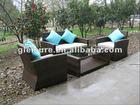 Outdoor garden plastic rattan sofa set, patio furniture, wicker furniture