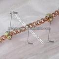 La cadena de latón 1. 8x 2. 5mm nicmkel- libre de plomo- seguro de latón para las cadenas de joyería de imitación