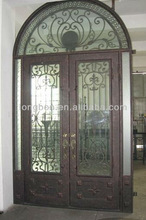 Top-selling handmade art design iron door forged