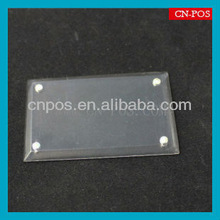 transparent acrylic label holder with magnet