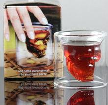 Crystal Double WallHead Vodka Shot Glass Cup Halloween Skull Glass Cup For Home Bar