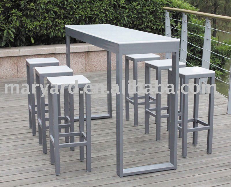Pp feuille de plastique en plein air table de bar avec for Table exterieur plastique noir