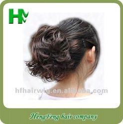 Synthetic fashion dark brown hair clip bun pieces