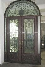 Top-selling handmade art design iron door forged