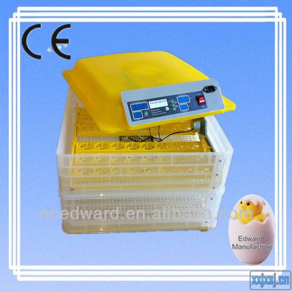 وافق ce 2015 جودة عالية أوتوماتيكية حاضنة البيض الصغيرة حاضنة البيض ew-96a التعبمناسبة للاستخدام