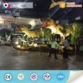 simulación de parque jurásico tamaño de la vida caminar dinosaurio