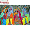 Indian Folk Painting of Radha Krishna Madhubani Painting