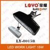 Hot sale IP67 10-30v LED Driving Light 15w LED Truck Light 12v LED Work Light For Cars