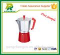 Weiß kaffeemaschine/rot kaffeekanne/heißen kaffee