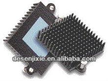 sand blast and black anodized heatsink aluminum, military electronics heatsink