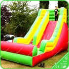Big Outdoor Playing Slide Equipment, Fun City Slide Inflatables