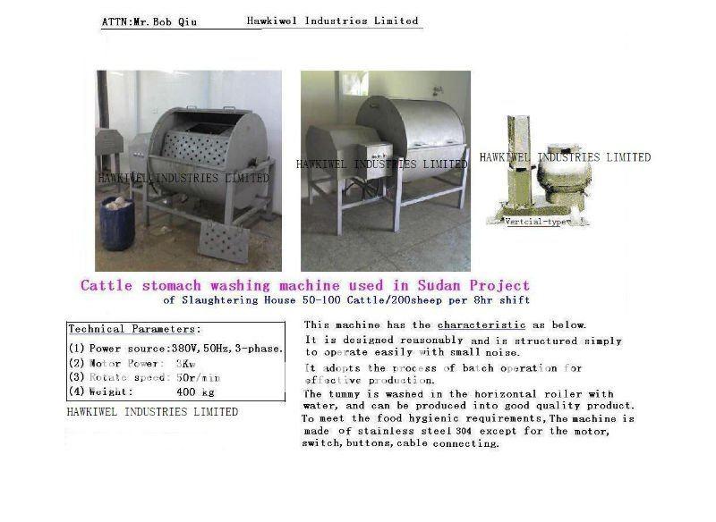 /ganado ovino/estómago de cerdo/la panza de la máquina de lavado