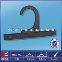 hot sale plastic black hanger for bag hanging