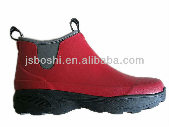 New style Red Neoprene Gardening ankle Boots