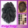 Synthetic fashion hair bun dark black curly hair pieces