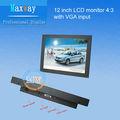 12 polegadas 800*600 pequeno monitor vga lcd