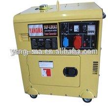 Model 6GF-LDE,air cooled Home standby yanmar type 6kw/6kva small silent diesel generator set