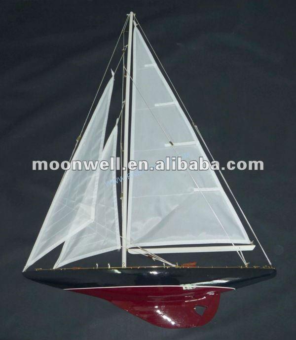 Ein halb rumpf segelboot modell aus holz, segelboot modell, yacht, schiff modell, souvenir, klipper modell, nautische geschenke, dekoration