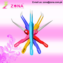 Eyelash Extension Tweezers With Loose Grip & Most Thinnest Points Under Customer's Brand Name , Colours & Packaging