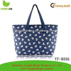 Lovely Pattern Canvas Shoulder Bag Shopping Tote Bag for Sales