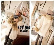 Free shipping--- Fur  coat medium-long female plus size faux medium-long--Highly recommend(China (Mainland))
