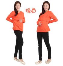 New Fashion High quality elasticity Maternity Nursing Long Sleeve O Neck T shirt cotton fadeless pregnant woman tops 8 colors(China (Mainland))